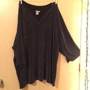 Plus size special occasion holiday sparkle top